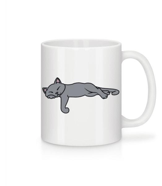 Sleeping Cat - Mug - White - Front