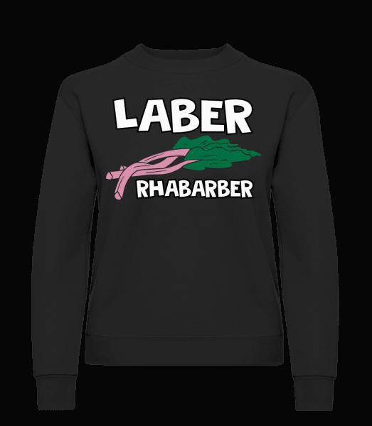 Laber Rhabarber - Frauen Pullover - Schwarz - Vorn