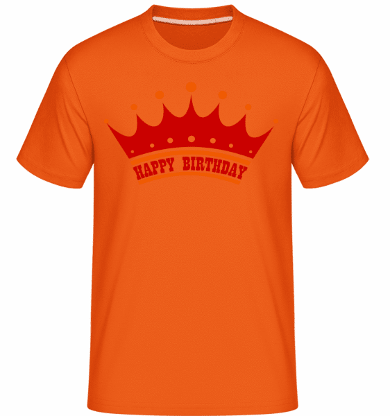 Happy Birthday Crown -  Shirtinator Men's T-Shirt - Orange - Vorn