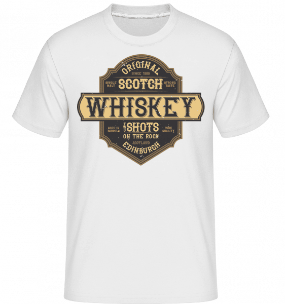 Original Scotch Whiskey -  Shirtinator Men's T-Shirt - White - Front
