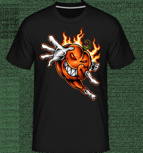Burning Pumpkin -  Shirtinator Men's T-Shirt - Black - Vorn