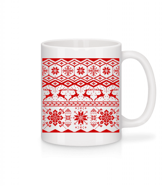 Christmas Pattern - Mug - White - Vorn