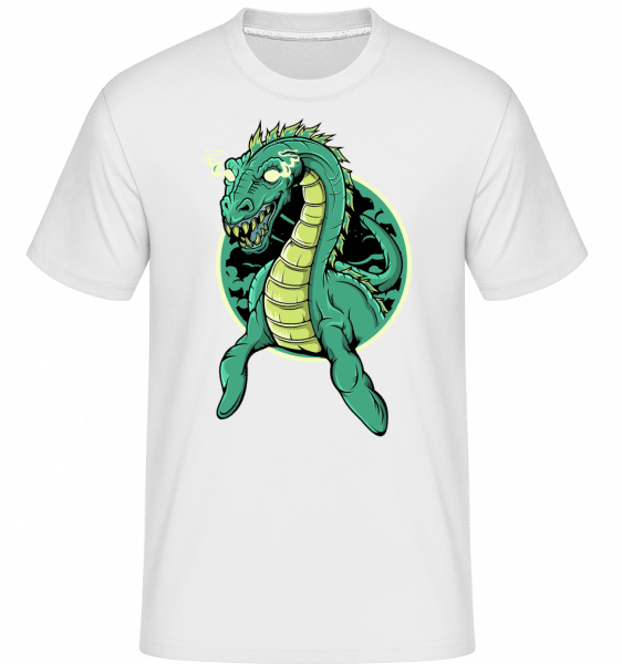 Lochness Monster -  Shirtinator Men's T-Shirt - White - Front