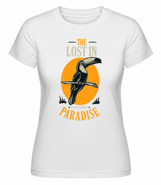 Bird Lost In Paradise -  Shirtinator Women's T-Shirt - White - Vorn