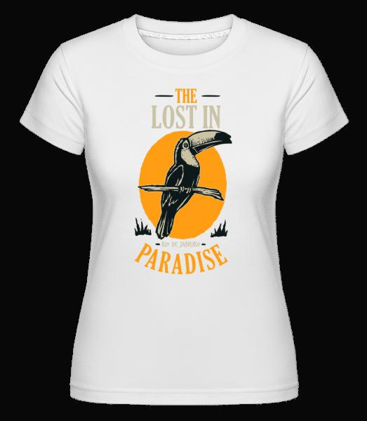 Bird Lost In Paradise -  Shirtinator Women's T-Shirt - White - Front