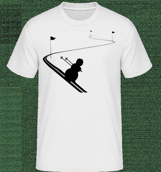 Ski Snowman Black -  T-Shirt Shirtinator homme - Blanc - Vorn