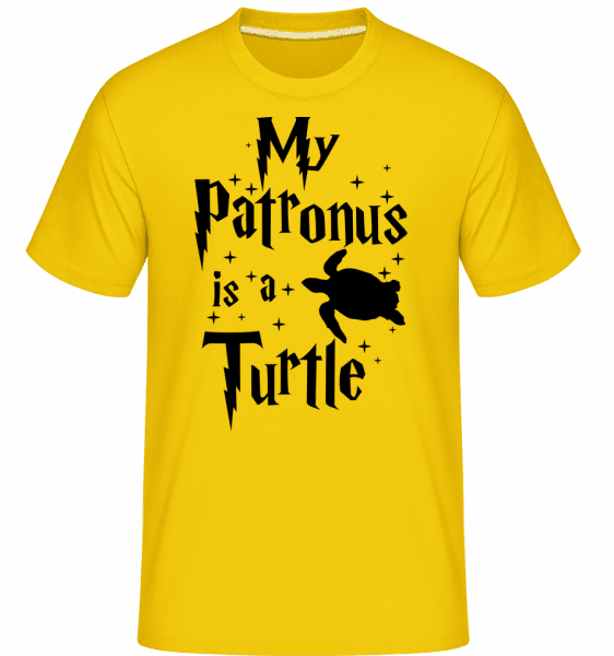 My Patronus Is A Turtle -  Shirtinator Men's T-Shirt - Golden yellow - Vorn
