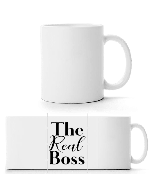 The Real Boss - Panorama Mug - White - Vorn