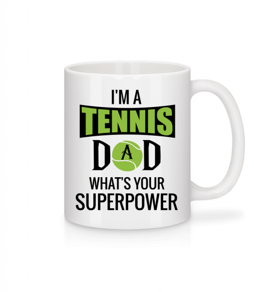 Tennis Dad Superpower - Mug - White - Vorn