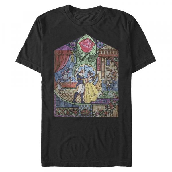 Glass Beauty Belle & Beast - Disney Beauty & the Beast - Men's T-Shirt - Black - Front