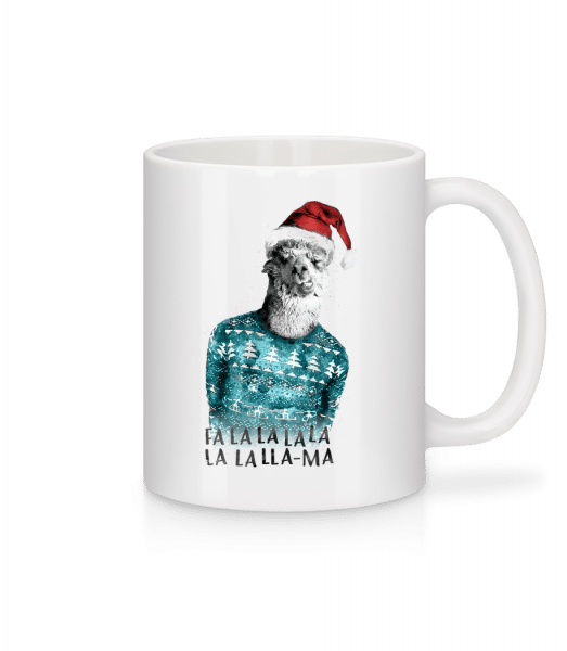 Christmas Lama - Mug - White - Vorn
