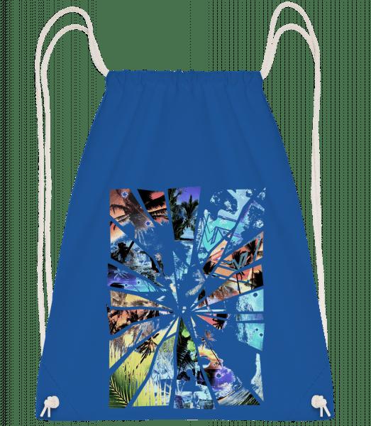 Holiday Splinter - Drawstring Backpack - Royal blue - Vorn