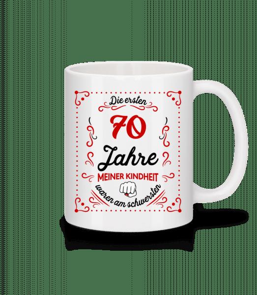Die Ersten 70 Jahre - Tasse - Weiß - Vorn