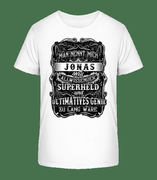 Man Nennt Mich Jonas - Kinder Premium Bio T-Shirt - Weiß - Vorn
