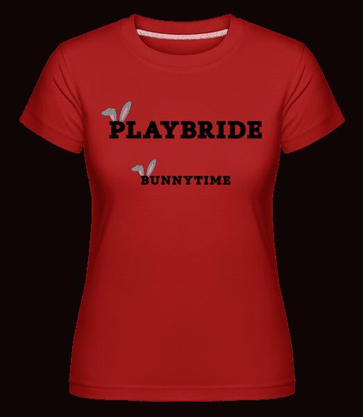 Bridebunny Bunnytime -  Shirtinator Women's T-Shirt - Red - Front