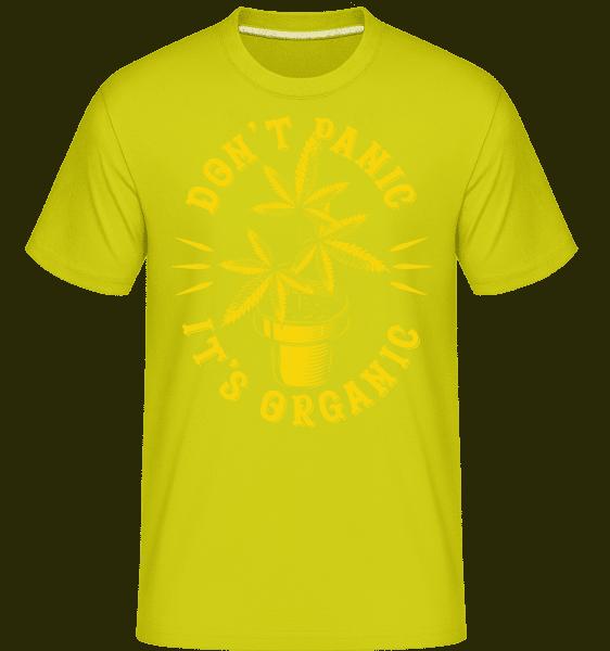 Don't Panic It's Organic -  Shirtinator Men's T-Shirt - Lime - Vorn