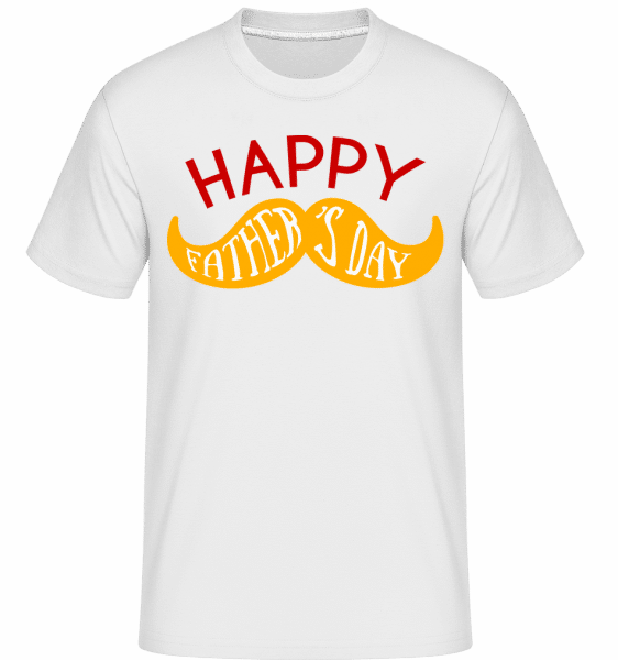 Happy Fathers Day -  Shirtinator Men's T-Shirt - White - Vorn
