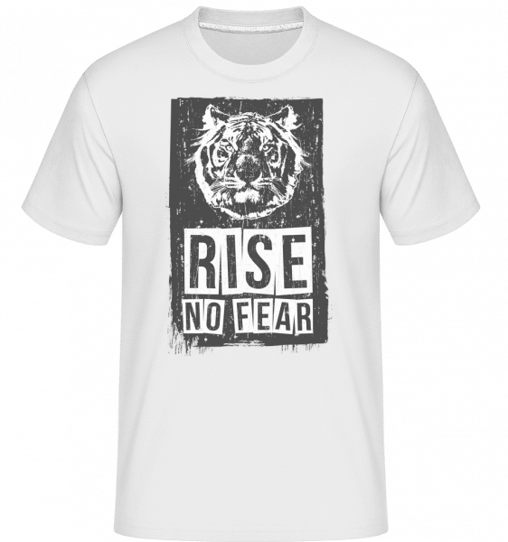 Rise No Fear Tiger -  Shirtinator Men's T-Shirt - White - Vorn