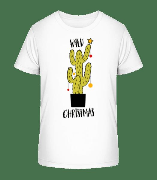 Wild Christmas - Kinder Premium Bio T-Shirt - Weiß - Vorn