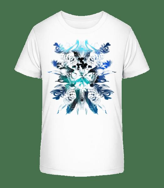 Feathers And Butterflies - Kid's Premium Bio T-Shirt - White - Vorn