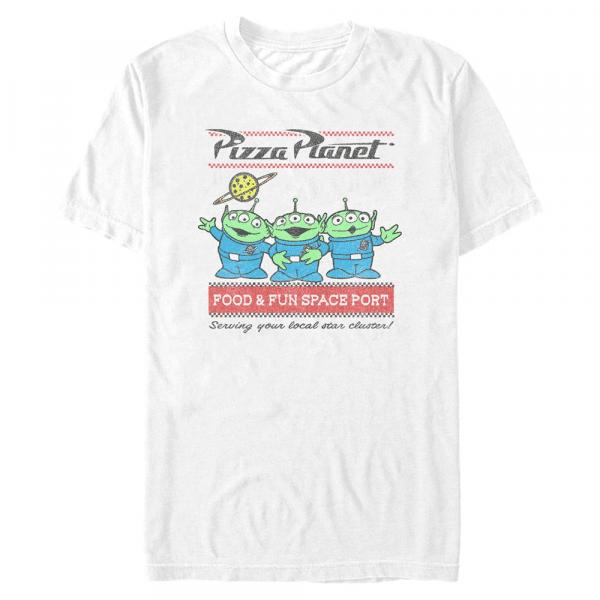 Pizza Planet Surf - Pixar Toy Story 1-3 - Men's T-Shirt - White - Front