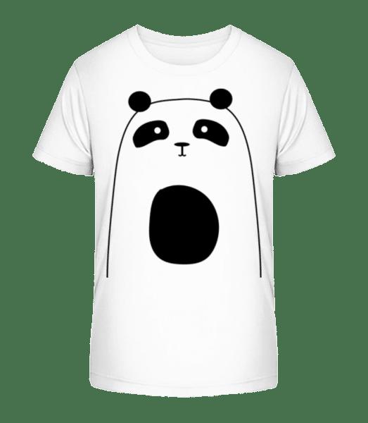 Cute Panda - Kid's Premium Bio T-Shirt - White - Front