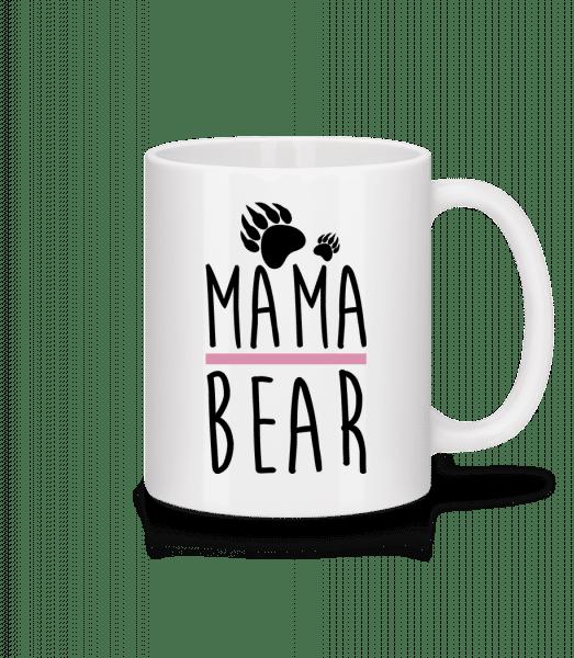 mama Bear - Keramický hrnček - Biela - Predné