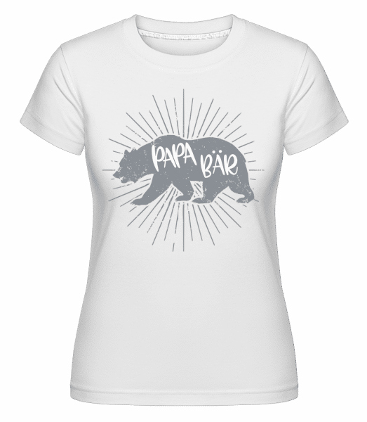 Papa Bär - Shirtinator Frauen T-Shirt - Weiß - Vorn