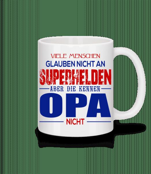 Superhelden Opa - Tasse - Weiß - Vorn