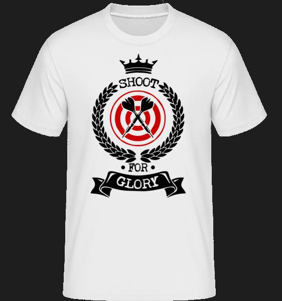 Darts Shoot For Glory -  Shirtinator Men's T-Shirt - White - Vorn