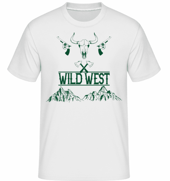 Wild West Icon Green -  Shirtinator Men's T-Shirt - White - Front