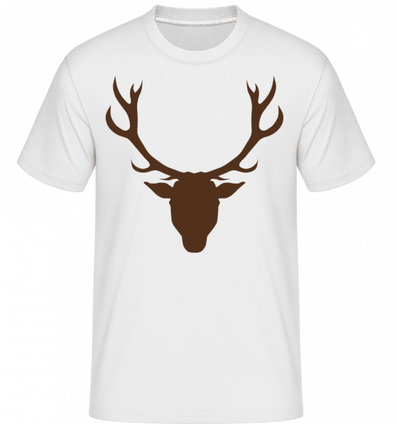 Deer - Brown -  Shirtinator Men's T-Shirt - White - Vorn