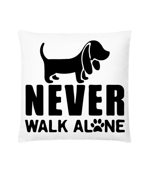 Never Walk Alone Dog - Cushion - White - Vorn