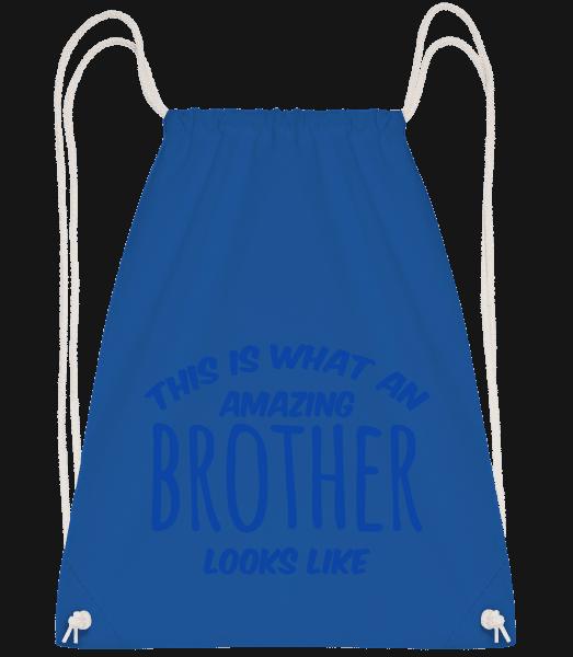 Amazing Brother Looks Like - Drawstring batoh so šnúrkami - Kráľovská modrá - Predné