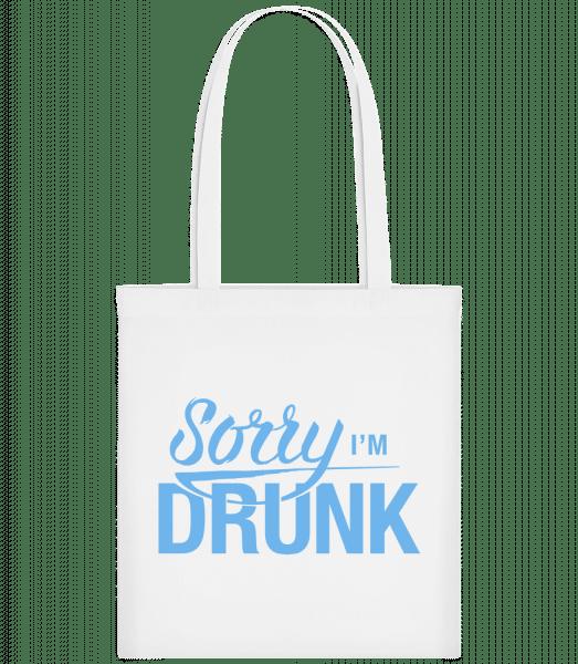 Sorry I'm Drunk - Carrier Bag - White - Vorn