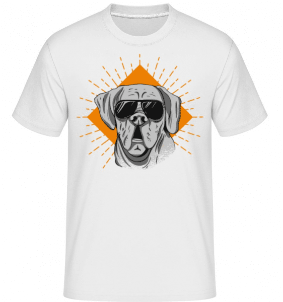 Sunglasses Dog -  Shirtinator Men's T-Shirt - White - Front