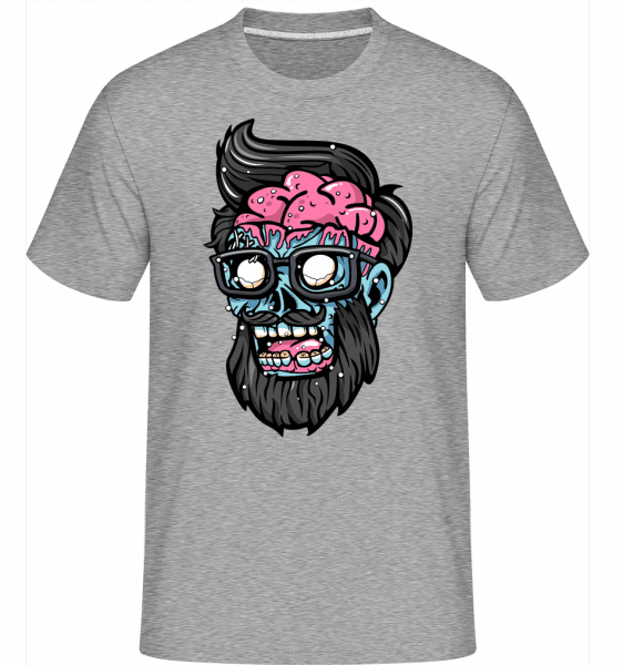 Zombie Head -  Shirtinator Men's T-Shirt - Heather grey - Vorn