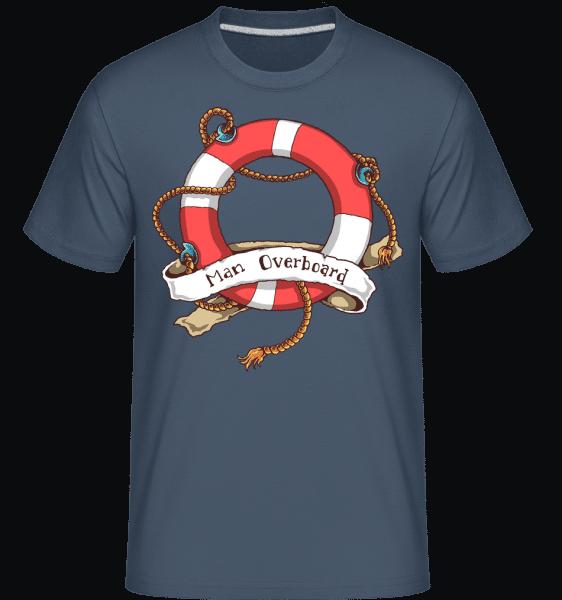 Man Overboard -  Shirtinator Men's T-Shirt - Denim - Vorn