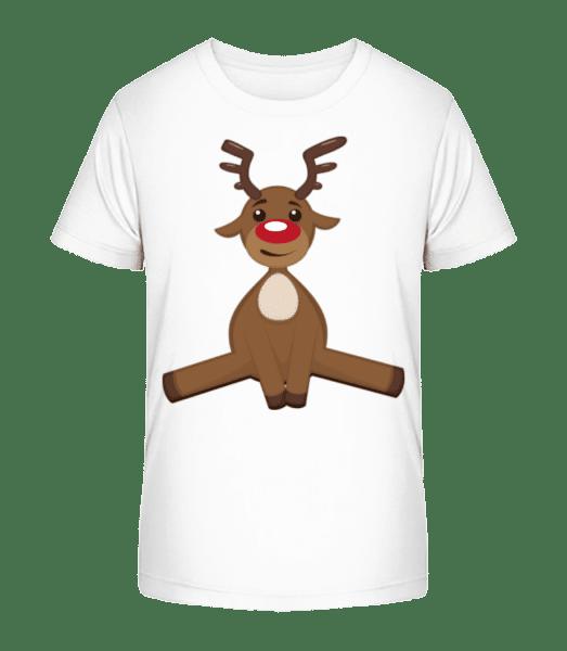 Cerf De Noël - T-shirt bio Premium Enfant - Blanc - Vorn