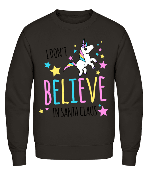 I Don't Believe In Santa Claus - Men's Sweatshirt AWDis - Grey - Vorn