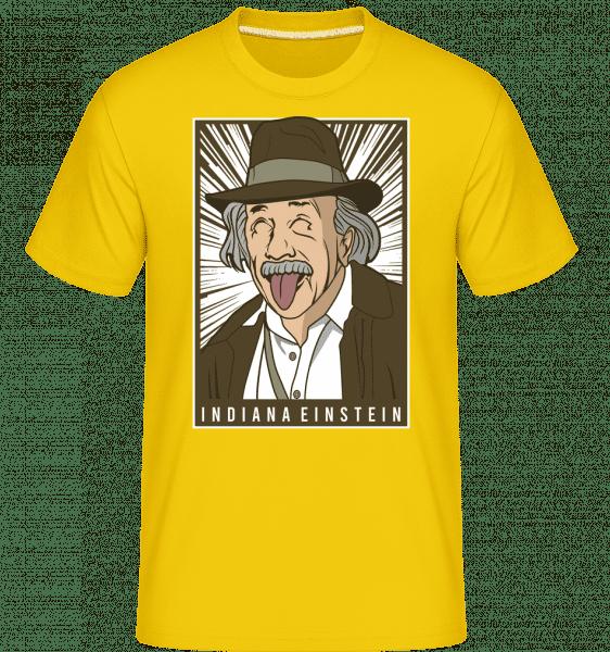 Indiana Jones Einstein -  Shirtinator Men's T-Shirt - Golden yellow - Vorn