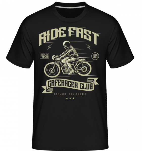 Ride Fast -  Shirtinator Men's T-Shirt - Black - Front