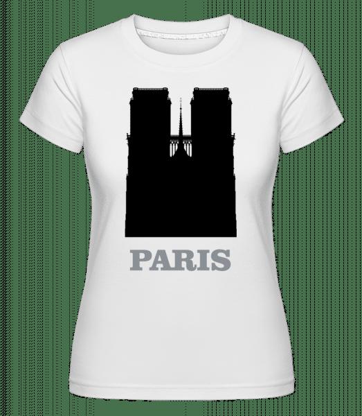 Paris Skyline -  Shirtinator Women's T-Shirt - White - Front