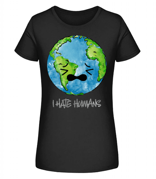 Earth Hates Humans - Women's Premium Organic T-Shirt Stanley Stella - Black - Vorn