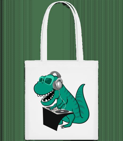 T-Rex DJ - Carrier Bag - White - Vorn