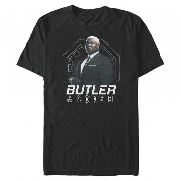 Butler Hero Shot - Disney Artemis Fowl - Men's T-Shirt - Black - Front