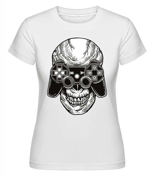 Skull Gamers -  Shirtinator Women's T-Shirt - White - Vorn