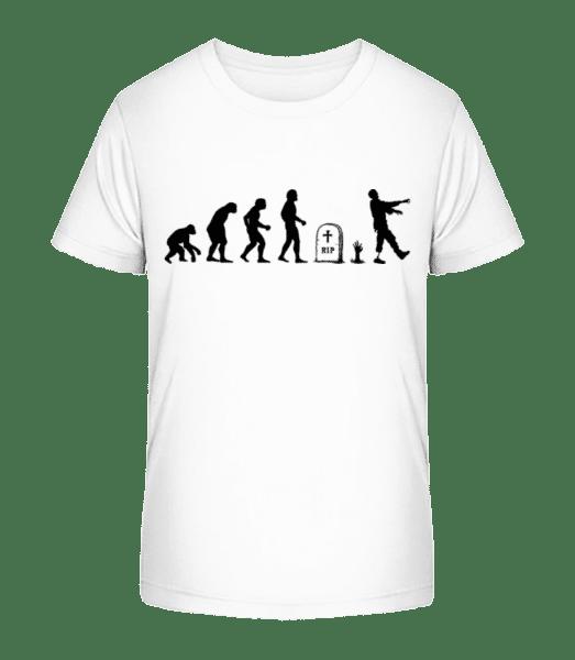 Halloween Evolution - Kid's Premium Bio T-Shirt - White - Front