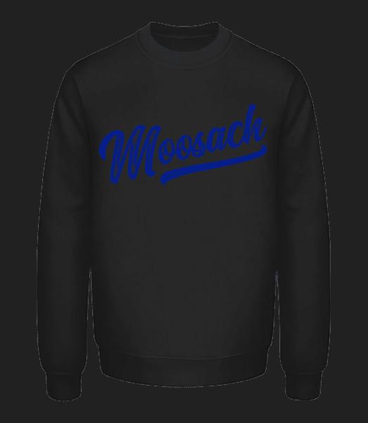 Moosach Swoosh - Unisex Pullover - Schwarz - Vorn