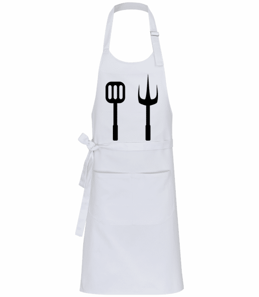 Barbecue Tools - Professional Apron - White - Vorn